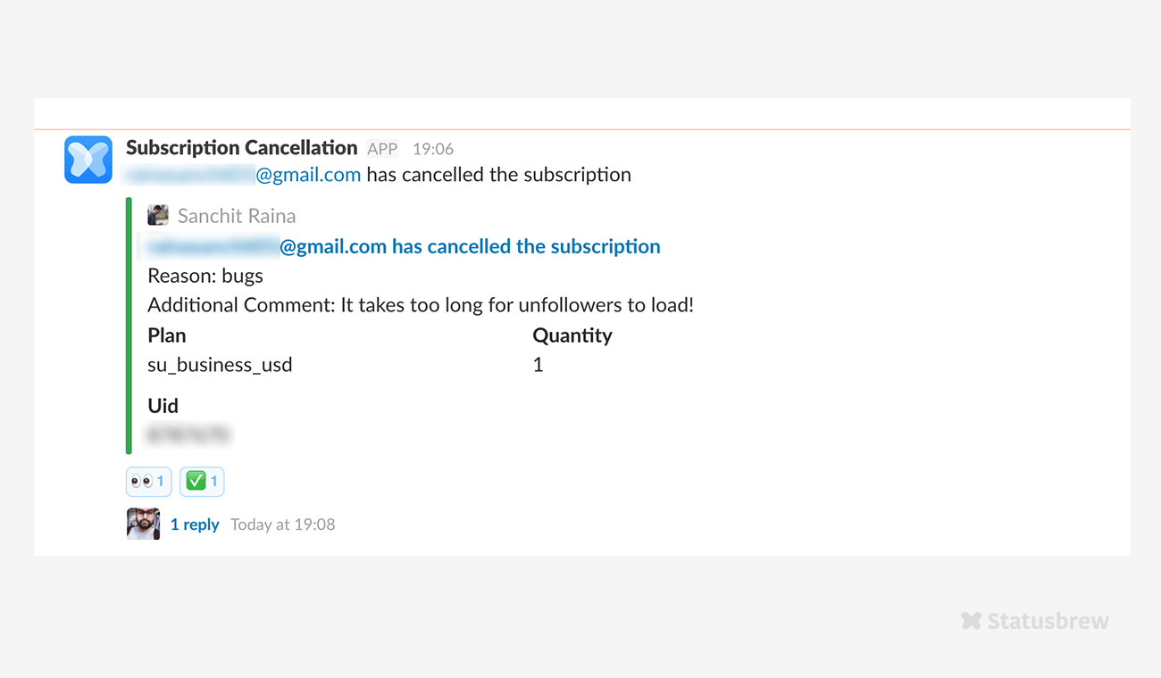Reduce Customer Churn using Slack Integration