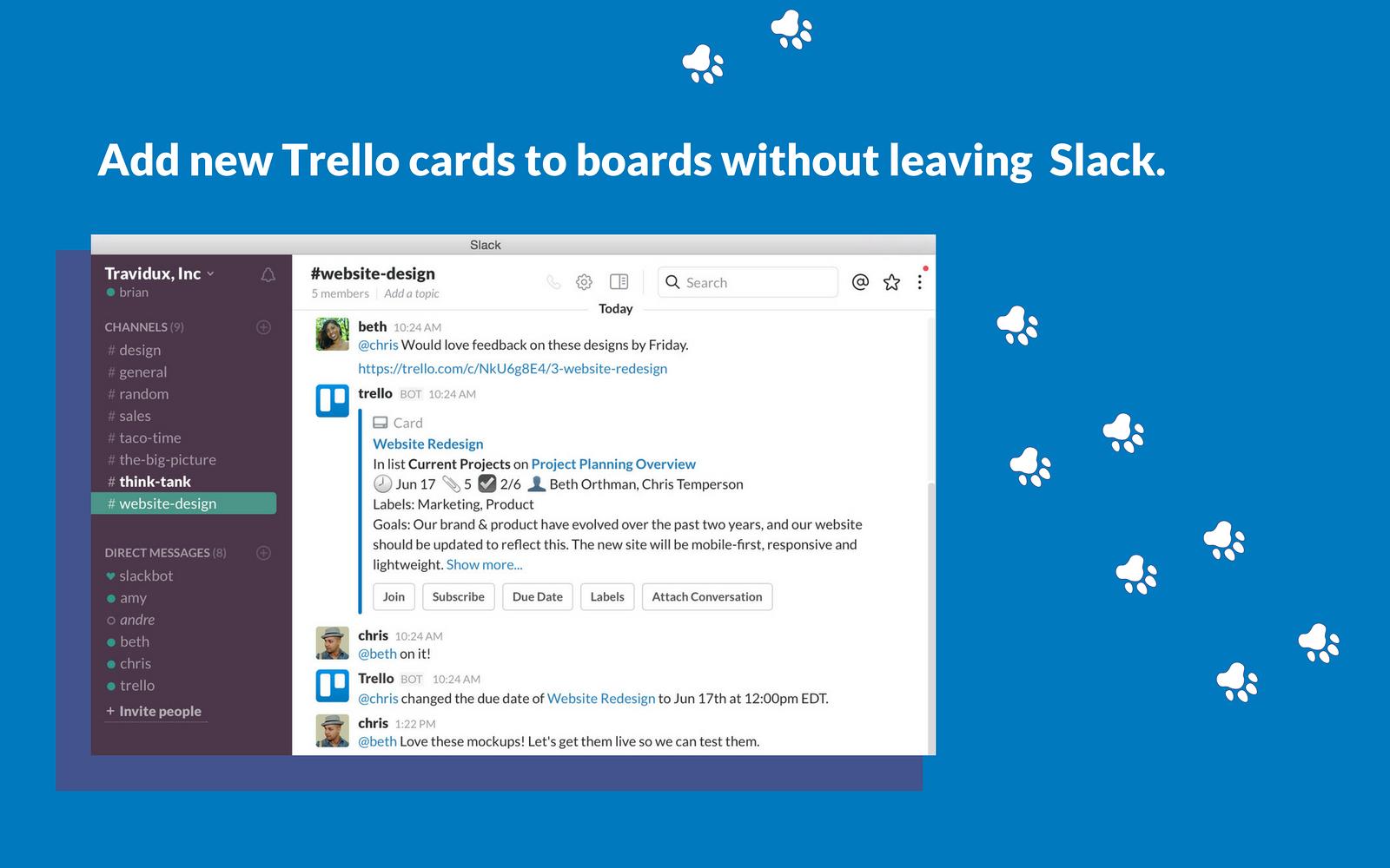 Trello and slack integration