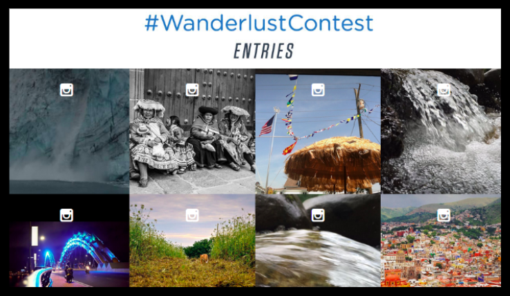 instagram marketing strategy - #WanderlustContest
