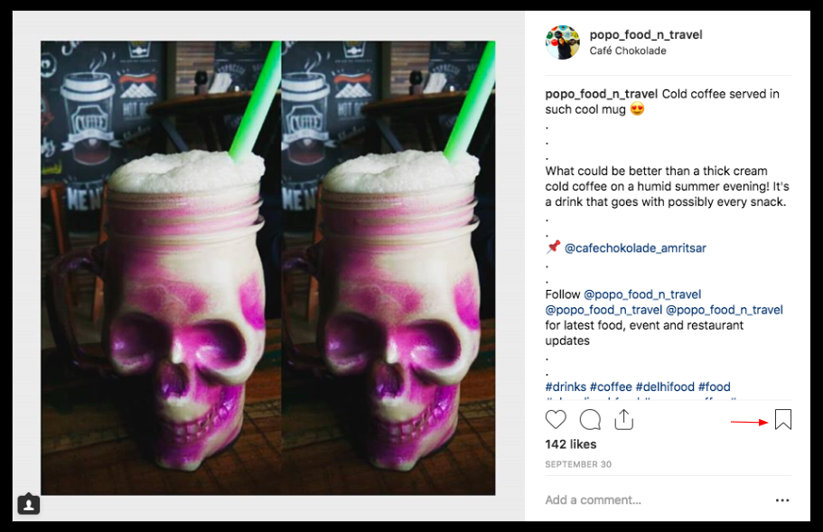instagram marketing strategy - instagram saved posts