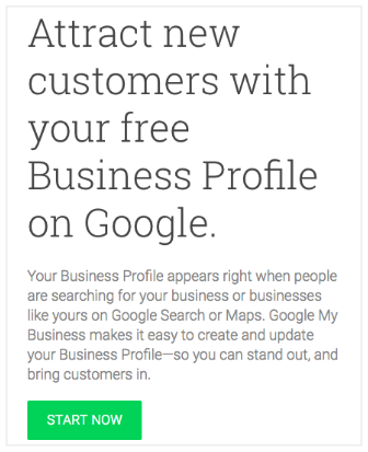 Start with Google My Business