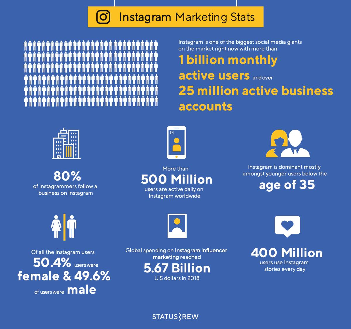 Instagram Marketing Statistics Infographic
