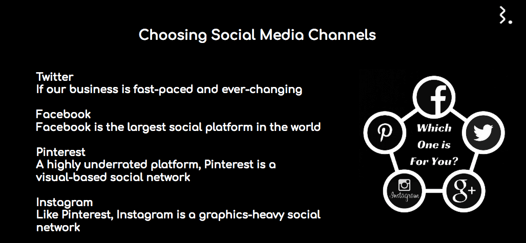 Choosing the right social media channels