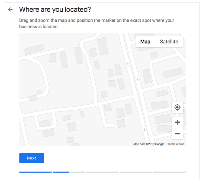 Start with Google My Business Map