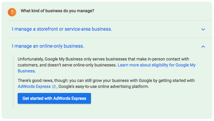How to create Google My-Business page