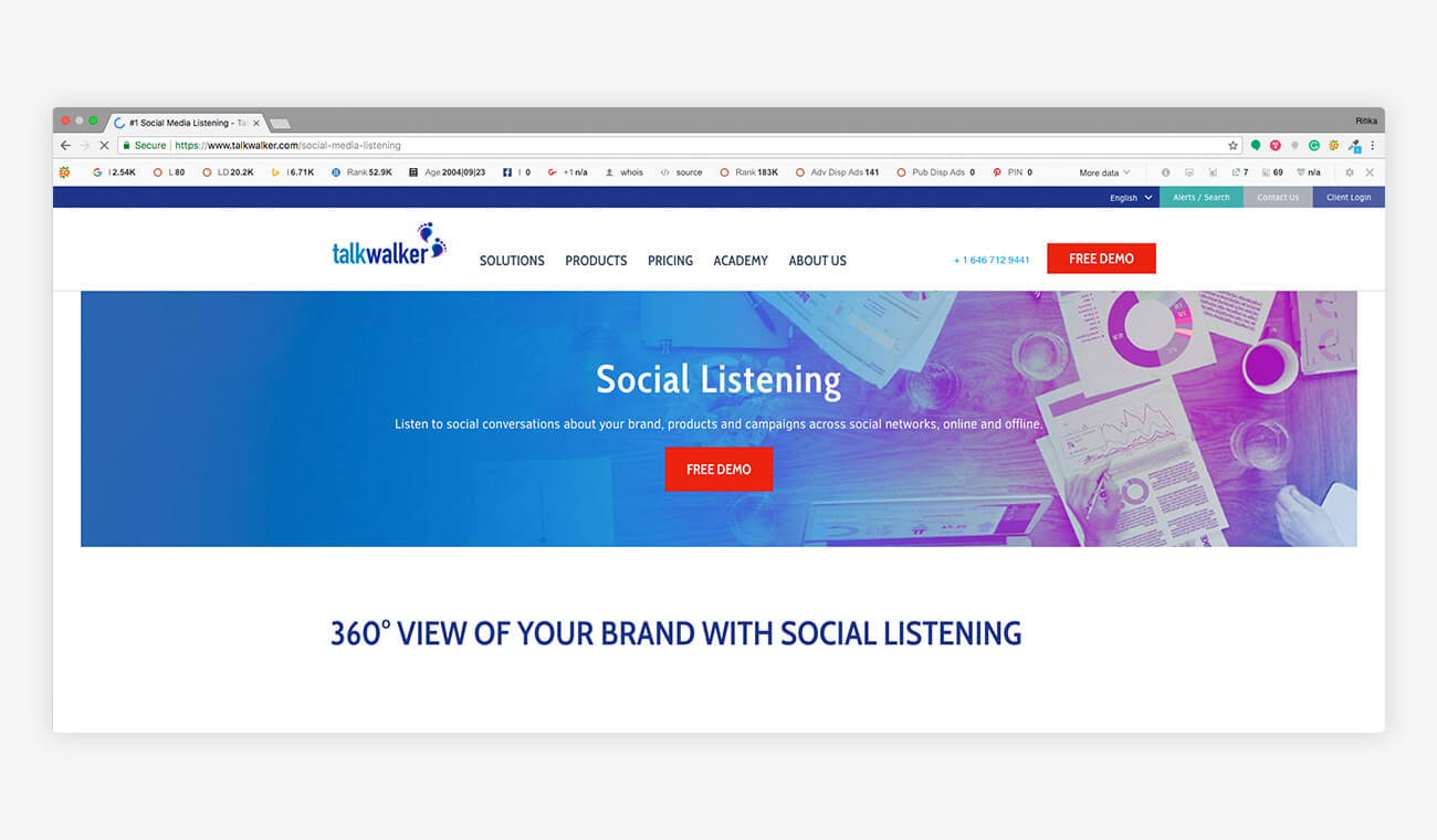 Talk walker Social Media Listening Tools
