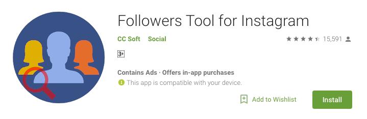 Follower tool for Instagram