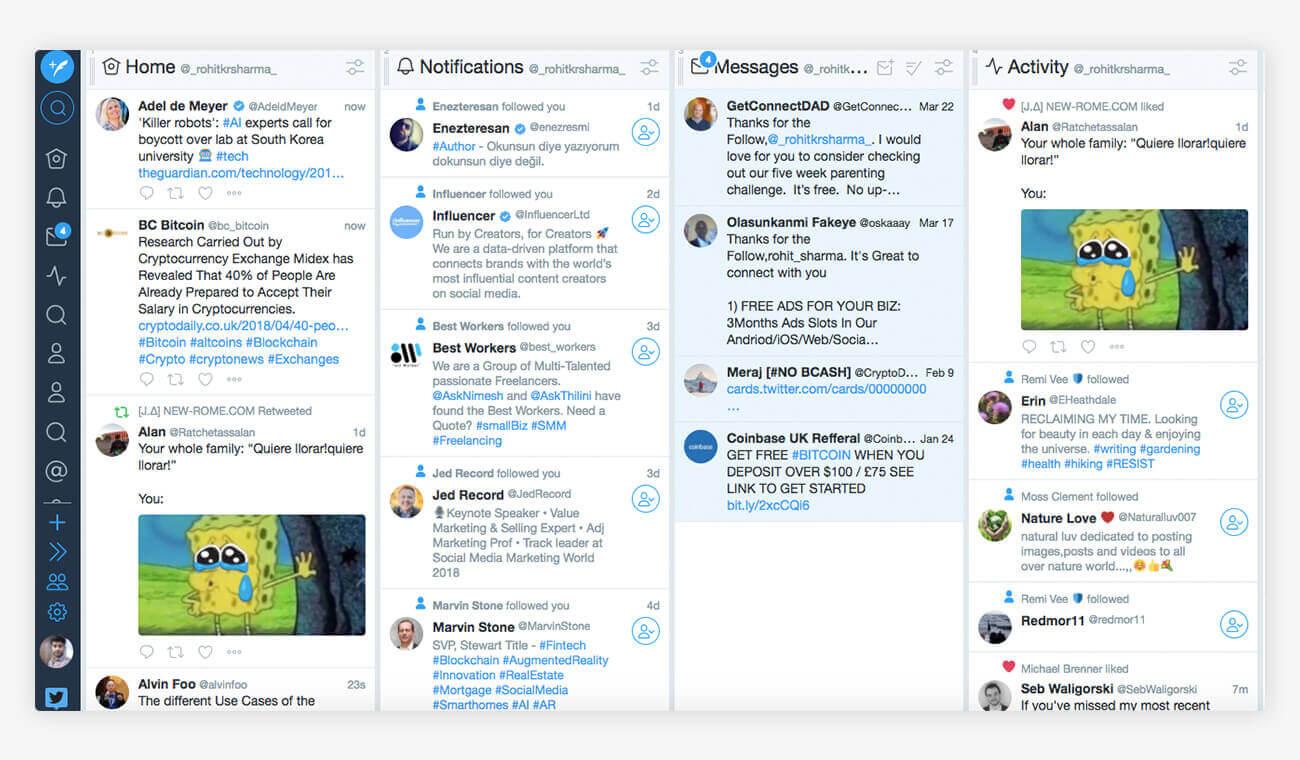 Tweetdeck Social Listening Tool