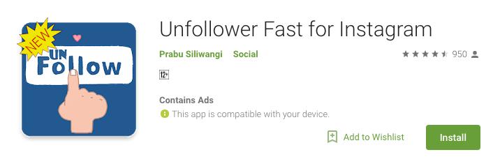 Unfollower Fast for Instagram