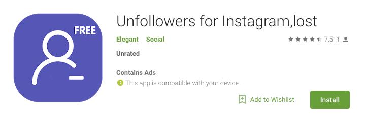 Unfollowers for Instagram Lost