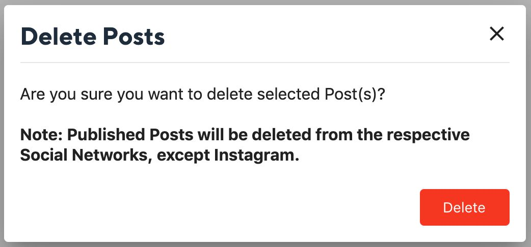 Deleting Published Posts