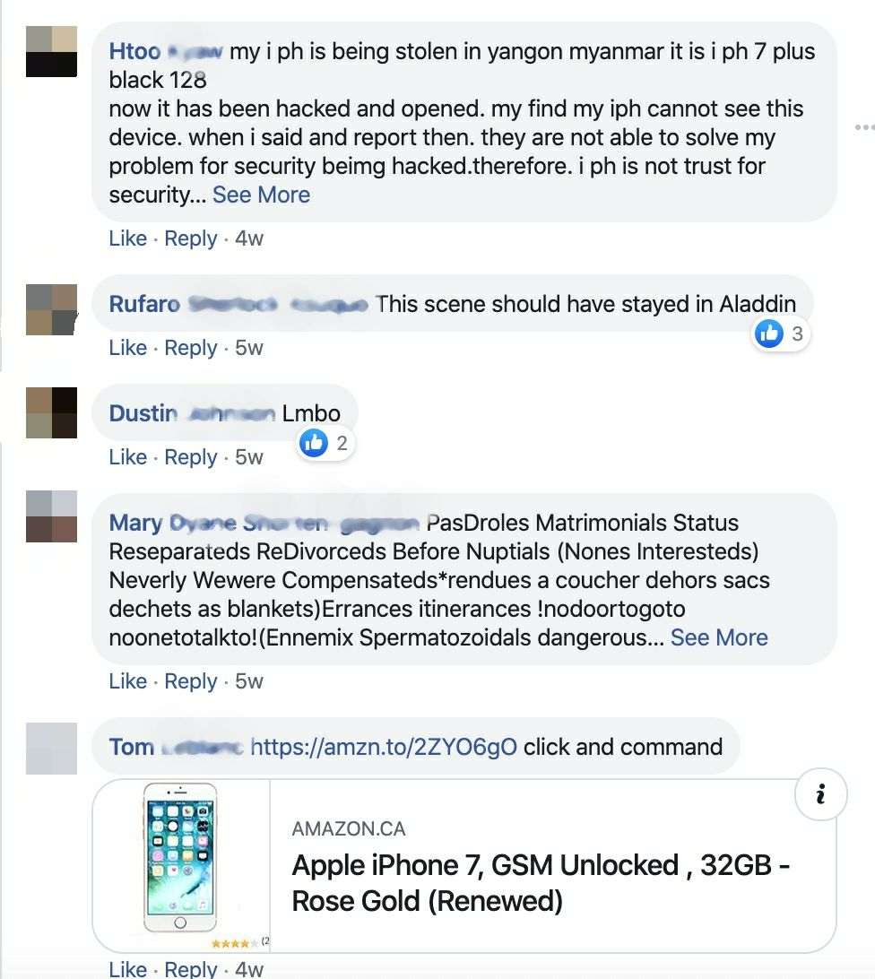 Apple Tv Facebook ad comments