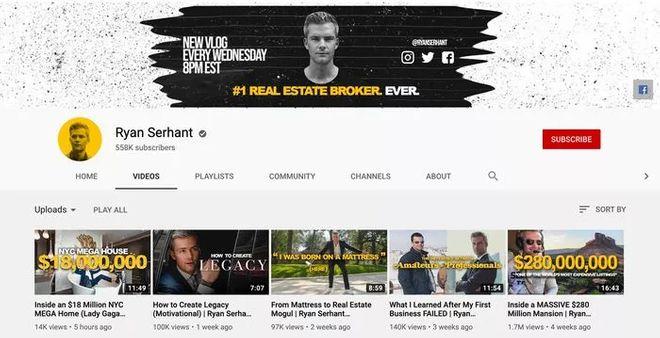 Ryan Serhant Youtube Channel