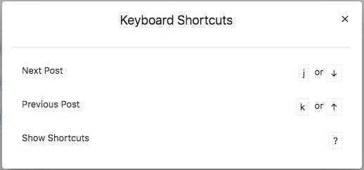 Keyboard Shortcuts in Planner List