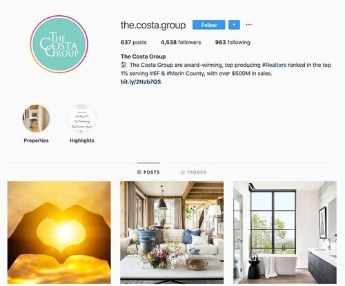 The Costa Group Instagram