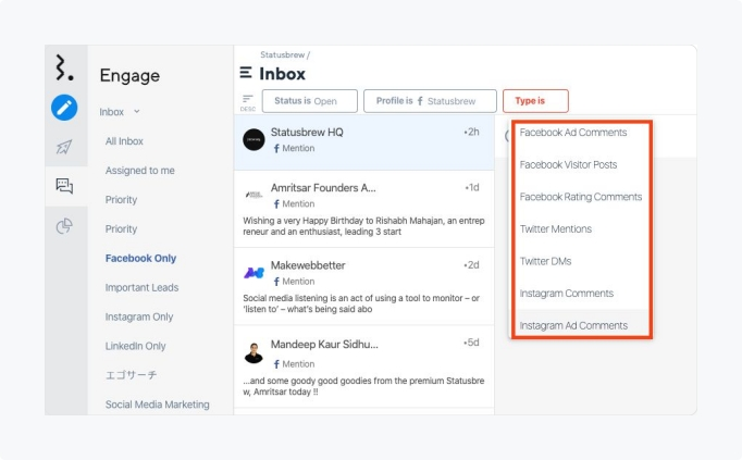 Engage Filters for Facebook and Instagram ad comments