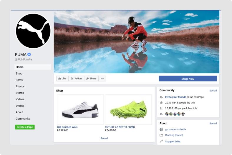 Puma-Facebook-Shop
