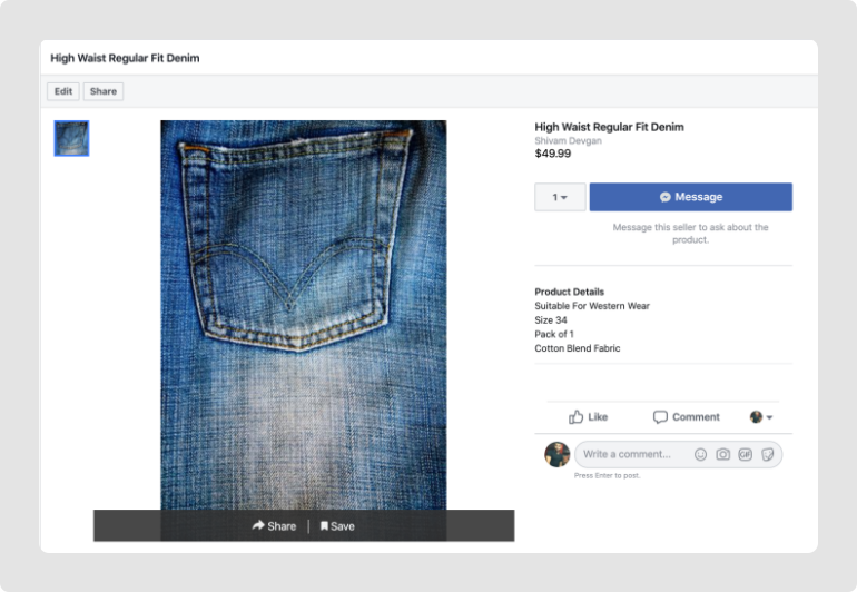 Facebook Store Products
