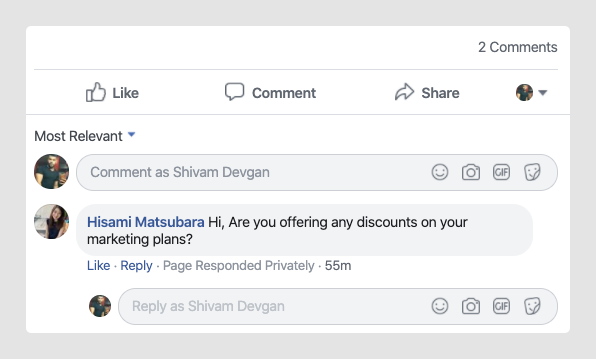 Auto-Reply Comments on Facebook