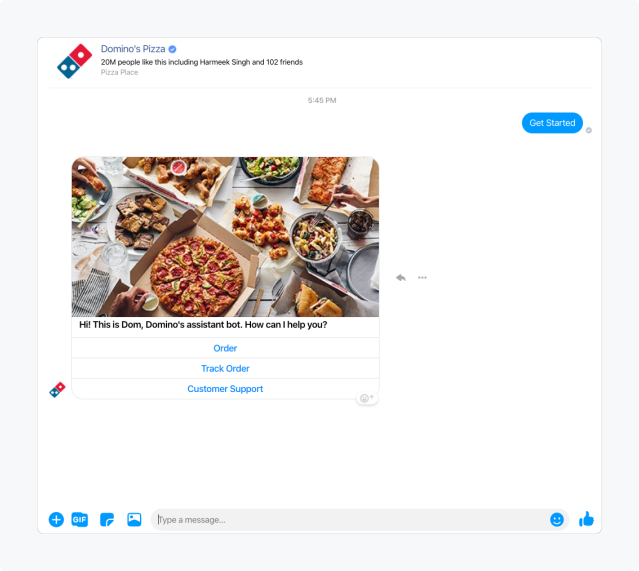 facebook-auto-reply-dominos