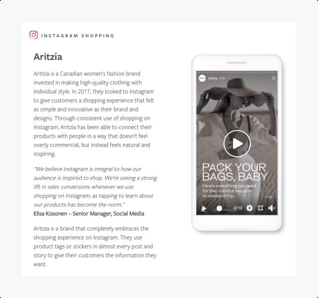 Aritzia instagram-success-story