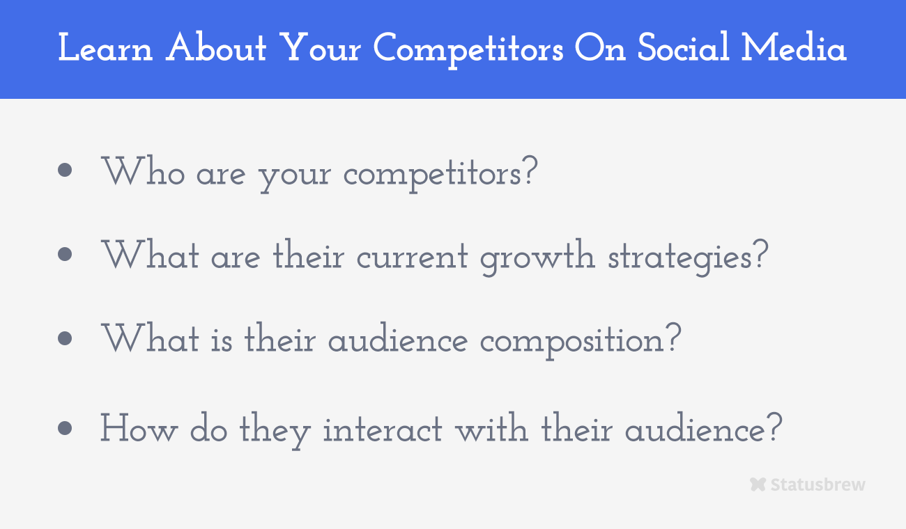 Learn About Competitors On Social Media