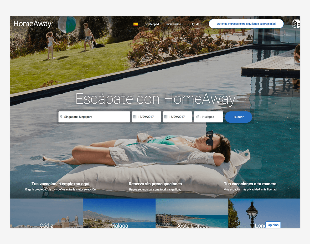 sitio web homeaway
