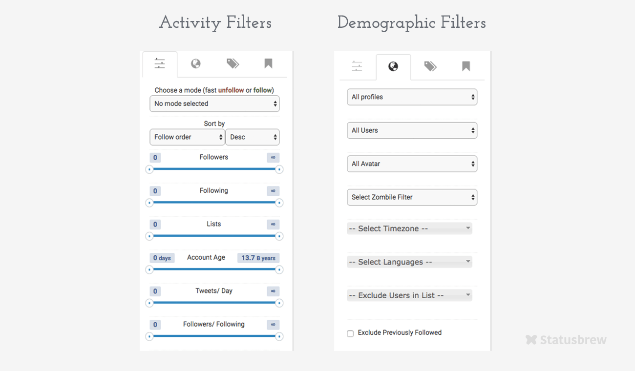 Filters on Criteria