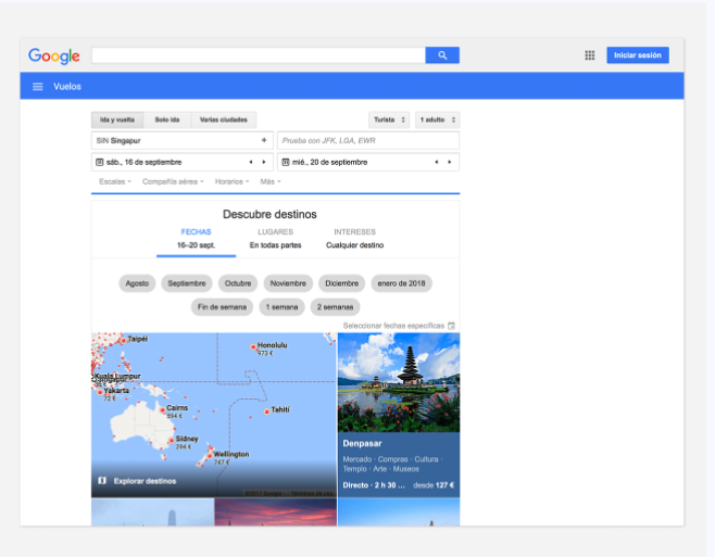 sitio web google flights