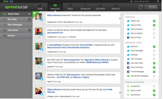 Sproutsocial Monitor Feature