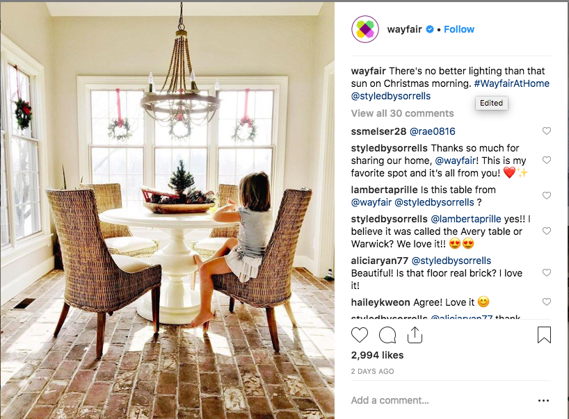 Wayfair Instagram Contest