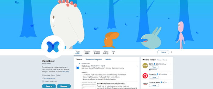 Optimized Twitter Profile