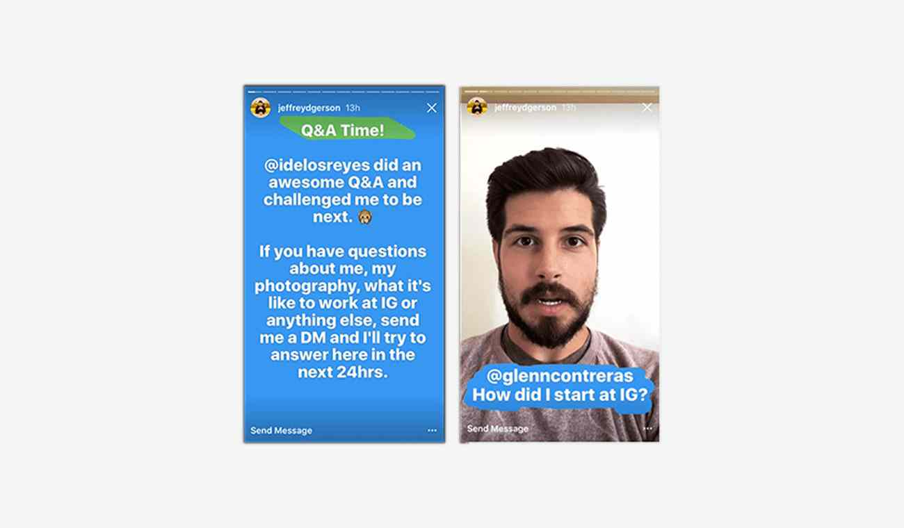 Instagram Stories Question and Answer