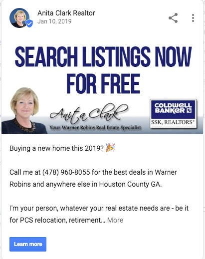 Selling Warner Robins Google My Business listing